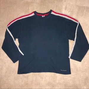 Old Navy | Navy with Red Stripe Long Sleeve